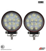 2x Powerful 39w Led 4.7'' Round Led Work Lights 12v 24v Lamps For Lorry Trailer