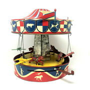 Wolverine Sunny Andy Musical Merry-go-round Carousel, Wind-up, Vintage 1950's