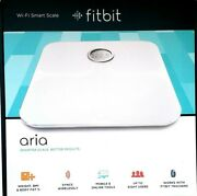 Fitbit Aria Wifi Smart Bathroom Fitness Scale Fb201w White - Water Resistance