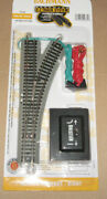 Bachmann 44862 E-z Track N Scale With Nickel Silver Rails Remote Turnout Right