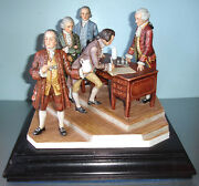 Goebel Bochmann Signing The Declaration Of Independence Group Sculpture Rare
