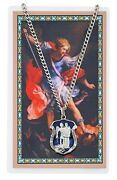 St Michael Protect Us Patron Of Police Officers Medal Necklace With Prayer Card