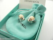 And Co Silver 18k Gold Scarab Bug Beetle Earrings Rare Gift Pouch Box Art