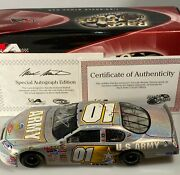 Autographed 2007 Mark Martin 1 Army American Heroes Monte Carlo Ss Mesma Chrome