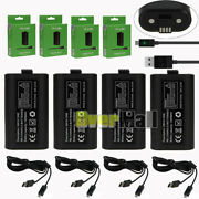 4x For Xbox One Play And Charge Kit Rechargeable Battery Pack And Charging Cable