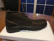 """Men's """"steve Madden"""" Sonos Waterproof Leather Casual Ankle Boot, Size 10m, Brown"""