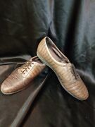 Easy Spirit Womens Shoes Sz 10 Embossed Oxfords Anti Gravity Brown