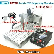 4 Axis 6040 Parallel Mach3 1500w Cnc Router Engraving Milling Machine 110v/220v