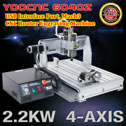 4 Axis 6040 Usb Mach3 2200w Cnc Router Engrave Cutting Mill Machine 110v Or 220v