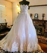 Ines By Ines Di Santo Estee Wedding Dress Gown Size 10