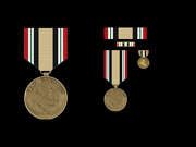 Iraq Campaign Oif Medal Ribbon Lapel Hat Pin Up Us Army Marines Navy Air Force