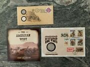 The American West Collection-stamp And Coin Set-bison Nickel-first Day Covers