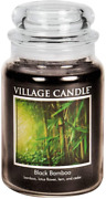Village Candle Black Bamboo 21.25 Oz Glass Jar Scented Candle Large