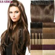 Aaaa One Piece Clip In 100 Real Remy Human Hair Extensions Full Head Add Volume