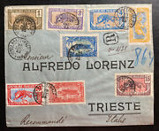 1925 Brazzaville French Congo Registered Cover To Triest Italy Sc40