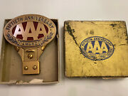Vintage Aaa License Plate Topper Nos 50 Anniversary