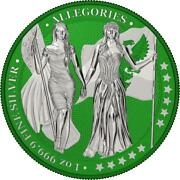 Germania 2019 5 Mark The Allegories I-color Forest Green 1oz Silver Coin