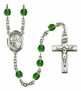 May Birth Month Prayer Bead Rosary With Saint Theresa Centerpiece, 19 Inch
