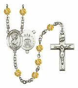 November Birth Month Prayer Bead Rosary With Saint Christopher Air Force Centerp