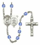September Birth Month Prayer Bead Rosary With Saint Christopher Air Force Center