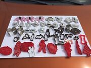 Lot Of Vintage Cookie Cutters Metal And Plastic.