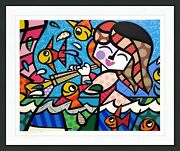 Romero Britto Neptuneand039s Daughter   Signed Screenprint   Others Avail   Gallart