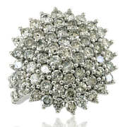 5.36ct Womens Large Cluster Cocktail Diamond Engagement Ring Solid 10k Gold