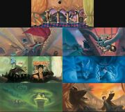 Harry Potter Set Of 7 Mary Grandpre Signed Bookcover Giclees Lim Ed Of 500