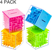 4 Pack Money Maze Puzzle Box Perfect Money Holder Puzzle And Brain Teasers For