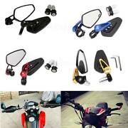 Motorcycle 7/8 Handle Bar End Rear View Mirrors For Honda Cb Cbr 600 F3 F4 F4i