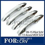 Chrome Silver Accessories Door Handle Covers Trims For 07-13 Acura Rdx/mdx Suv