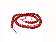 2° Choice Natural Red Coral Beads Ft Necklace Extra Italy Jewelry 8,7mm And 17.72