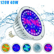 120v 40w Led Pool Light Fixtures,color Changing,fit In For Pentair And Hayward