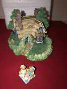 New 1995 Vtg Cherished Teddies Village A Picnic For Two Cottage W Couple