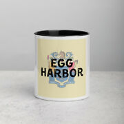 Egg Harbor New Jersey State Flag Background Coffee Mug With Color Inside