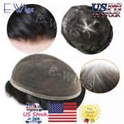 Full French Lace Mens Toupee Swiss Lace Hair System All Color Light Density Wig