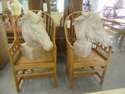 Pair Of Large Horse Bust Sculptures
