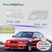Pair Headlight Lens Clear Covers Cap Replacement 4door For Bmw E46 2002-2004