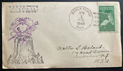 1948 Devils Tower Wy Usa Cover To Audubon Nj National Monument Cachet