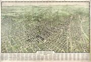 Los Angeles 1909 Historical Print Mounted Wall Map Framing Available