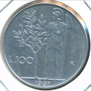 Italy 1967r 100 Lire - Uncirculated