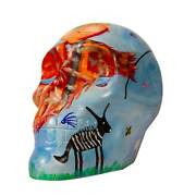 Mexicraneos Decorative Handpainted Real Size Skull Live Forever