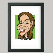 10 X 8 Colour Print - 1 Person Digital Caricature From Photo - Personalised