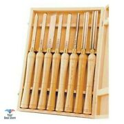 Gouge Wood Chisel Set Lathe Chisels Woodworking Tools Carving With Wooden Case