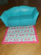 Barbie Doll My Dream 2007 House Glam Blue Sofa Couch Furniture