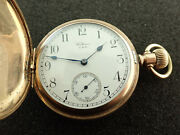 Vintage 16 Size Equity Waltham Hunting Case Pocket Watch - Running - From 1917