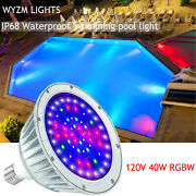 Pentair Hayward Fixture 120v 40 Led Light For Color Changing Swimming Pool