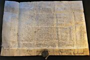 Pope Benedict Xiii Bull Signed By Cardinal Caraffa 1727 Papst Bulle Pergament