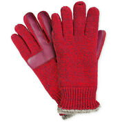 Isotoner Red Marled Knit Smartdri Smartouch Tech Women's Gloves One Size