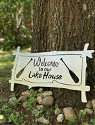 Welcome To Our Lake House Metal Welcome Sign - Lake House Decor